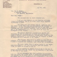 Charles Catlett to Eleanor Randolph Wilson McAdoo