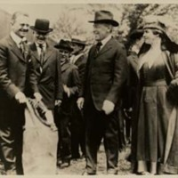 Woodrow Wilson and Edith Bolling Wilson at the Inauguration of Airmail Service
