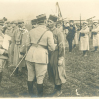 French Zouave Soldier Receives a Medal