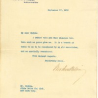 Woodrow Wilson to Mr. Opdyke