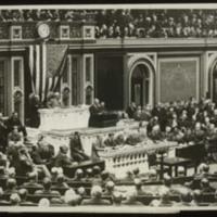 Woodrow Wilson Addressing Congress on the Break with Germany