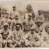 Group of Soldiers in Baseball Uniforms