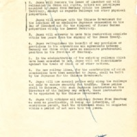 Draft Settlement of the Shantung Question