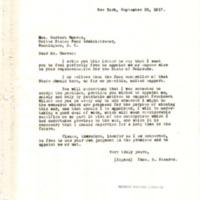 Thomas B. Stearns to Herbert Hoover
