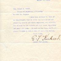 EF Kinkead to Joseph E. Ralph