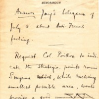 Note on Anti-French Feeling and the Situation in Asia Minor