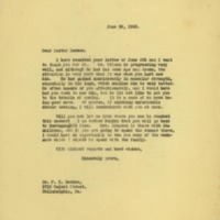 Cary T. Grayson to Francis Xavier Dercum