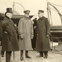 One of the First Aboard at Brest Harbor, France.