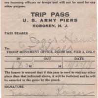 Trip Pass – US Army Piers, Hoboken, NJ