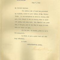 Woodrow Wilson to Joseph Ruggles Wilson Jr.