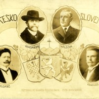Wilson with Masaryk, Klofac, and Kramar