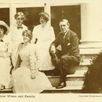 Wilson with Family on Porch