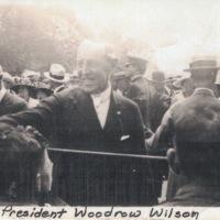 Woodrow Wilson greeting crowd