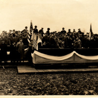 President Wilson Addressing the Troops on Christmas Day
