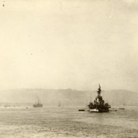 French Cruiser at Anchor in Brest Harbor