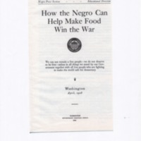 How the Negro Can Help Make Food Win the War