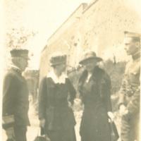 Edith Benham Helm, Admiral Knoff, Eleanor Foster Lansing and Captain Garfield at Verdun