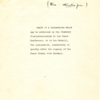 Draft Japanese Declaration