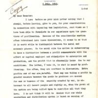 Herbert Hoover to Furnifold McLendel Simmons