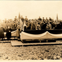 President Wilson Before He Addressed the Troops on Christmas Day