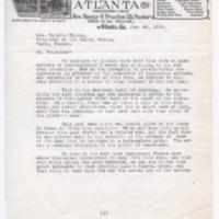 Walter W. Paris, William King, JD Dobbs to Woodrow Wilson