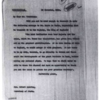 Woodrow Wilson to Robert Lansing