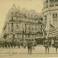 American Soldiers Parade in Paris, France