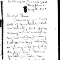 Edith Bolling Wilson to Annie L. Bolling