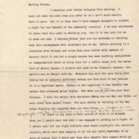 Margaret Woodrow Wilson to Woodrow Wilson