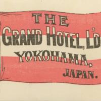 Luggage Label for the Grand Hotel, Yokohama