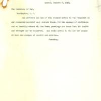 General Pershing Thanks President