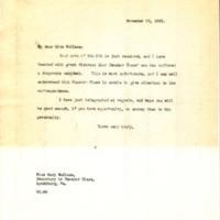 Benjamin Strong Jr. to Mary Wallace