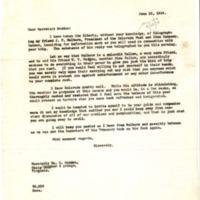 Benjamin Strong Jr. to William G. McAdoo