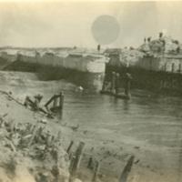 Ruins of a Bridge [Yser River?], Nieuport, Belgium