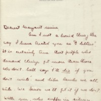 Jessie Woodrow Wilson Sayre to Margaret Woodrow Wilson