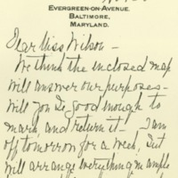 Alice Garrett to Jessie Woodrow Wilson Sayre