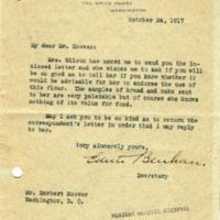 Edith Benham Helm to Herbert Hoover
