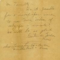 Alice Gertrude Gordon Grayson to Joseph P. Tumulty