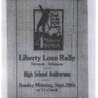 Pamphlet for Liberty Loan Rally