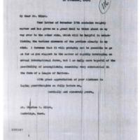 Woodrow Wilson to Charles W. Eliot