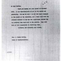 Woodrow Wilson to J. Thomas Heflin