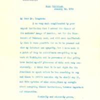 Woodrow Wilson to John O. Cosgrave