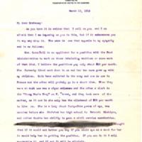 RW Farrar to Thomas W. Brahany