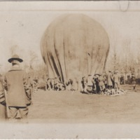 Group of Soldiers around a Hot Air Balloon
