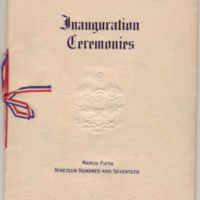 Program of the Ceremonies Attending the Inauguration of the President and Vice President of the United States