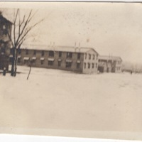 Camp Buildings in the Snow
