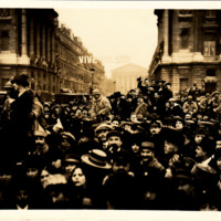 Photograph of the Crowd in Paris During Wilson's Arrival