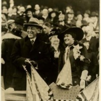 Woodrow Wilson and Edith Bolling Galt at World Series