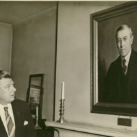 Arthur Godfrey Viewing Woodrow Wilson's Portrait