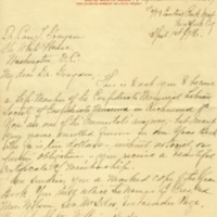 Blanche G. Silliman to Cary T. Grayson